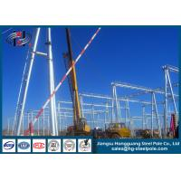 China Polygonal Substation Steel Structures , Electric Transmission Tower on sale