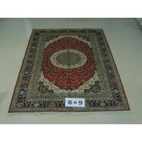 China Oriental hand knotted pure silk rugs Antique carpet 6x9ft on sale