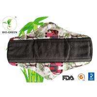 Machine Washable Bamboo Mama Pads , Charcoal Bamboo Reusable Sanitary Towels Manufactures