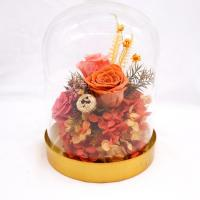 Customized Preserved Preserved Rose Glass Dome Home Decorative Christmas Gift Manufactures