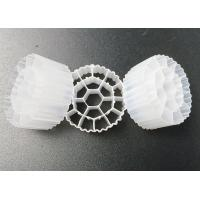 19 Holes 25*10mm White Biomass Filter Carrier UV Resistant Biofilm Media Manufactures