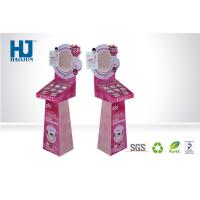 Fashionable PINK Cosmetic Display Stand Corrugated Display Shelf for Makeup Manufactures