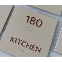 Buy cheap Matte Finish Thermoformed ADA Signs , Custom Color Acrylic Room Signs Custom from wholesalers