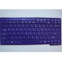 Laser Cutting Wireless Silicone Keyboard , Roll Up Computer Keyboard Dustproof Manufactures
