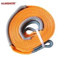 Multifunctional Heavy Duty Orange Tow Straps / Snatch Strap 8000 KG 60mm With Acid Resistance Manufactures