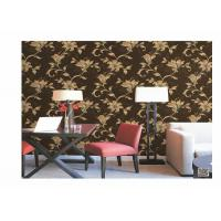 China Home Decoration PVC Embossed Wallpaper Waterproof With European Flower on sale