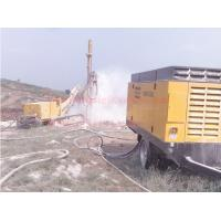 Double Flighted Diesel Engine Air Compressor , Mining Drilling Screw Air Compressor Manufactures