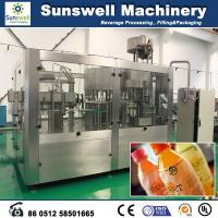 Automatic Fresh Fruit Juice Hot Filling Machine For Washing Filling And Capping Manufactures