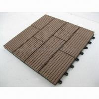 Deck tile with wood plastic composite material, DIY tile, outdoor garden using, water-resistant Manufactures