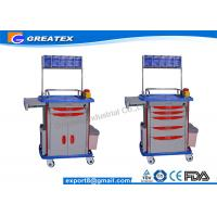 Leading supply of hospital trolley  , Luxurious ABS Anesthesia mobile medical cart Manufactures