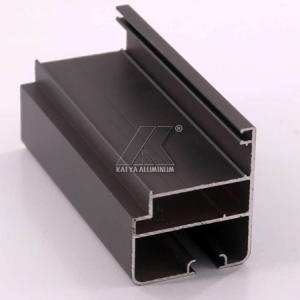 OEM Extruded Aluminum Profiles , Window Aluminum Profile Black Powder Coating