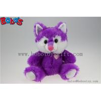 Cuddly Sitting Purple Plush Fox Animal as Children Toy for Festival Manufactures