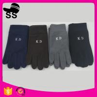 2017 wholesale on stock winter Plain Style 11*24cm 66g 100%polyester single layer women lady quick warm fleece glove Manufactures