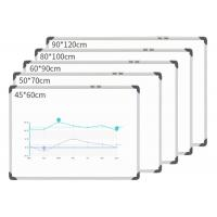 Silver Hanging Magnetic White Board , Small Magnetic Whiteboards Students Manufactures