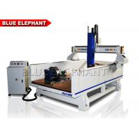 China Double Separate Heads Four Axis Cnc Router Metal Carving Machine T - Slot Table on sale