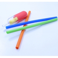 Reusable BPA Free Straight Silicone Drinking Straws Manufactures