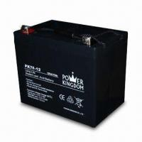 Sealed Lead Acid Battery with 12V Voltage and 75Ah Nominal Capacity, Measures 258 x 166 x 210mm Manufactures
