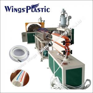 PVC High Pressure Fiber Braiding Hose Extruder Machine / Production Line Manufactures