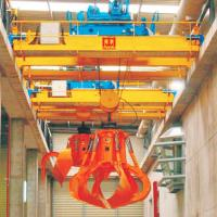 China Double Girder Overhead Crane With Grab Bucket Mobile Brick 16T Bulk Material on sale
