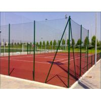 Metal Frame PVC Chain Link Fencing / Diamond Wire Netting For Commercial Grounds Manufactures