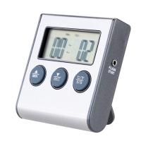 China Rushed Digital Thermometer for Oven free Digital Lcd Display Probe Food Thermometer Timer on sale