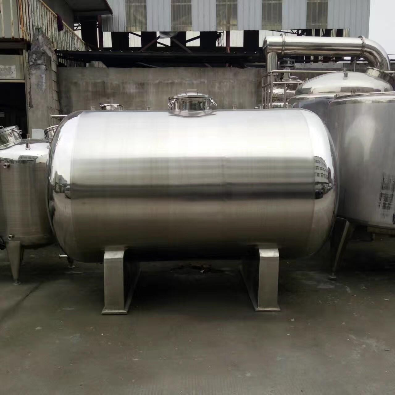 Cheap 20000L Big Volume Horizontal Type 304 Stainless steel Storage Tank For Milk Palm Oil Etc Liquid for sale