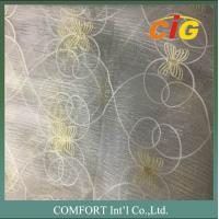 China 60 G/M2 Polyester Material Home Textile Products Embroidered Voile Curtain Fabric on sale