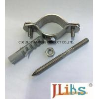 Cheap Thickness 2.5mm Steel Pipe Clamps Zinc Plated With Hanger Bolt , Paper Carton Package for sale