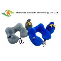 China Air Inflatable Neck Support Travel Pillow , U Shaped Comfortable Travel Pillow on sale
