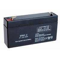 China SLA fire alarms, smoke detectors Emergency Lighting Battery Replacement (6v 1.2ah, 3FM1.2) on sale