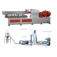 PP Caco3 Double Screw Extruder Granulation Machine Water Ring Cutting System Manufactures
