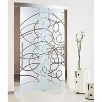 Acid Etched Tempered Glass Door Thermal Stability Withstand 250℃ Manufactures