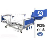 China Height Adjustable Manual Medicare Hospital Bed With Telescopic SS IV Pole on sale