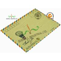 Standard Size Kraft Paper Custom Printed Envelopes With UPC Barcode Printing Edge Manufactures