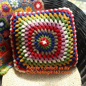Handmade Paisley Crochet pillow cushion cover Decorative Cushion Wedding Gift Manufactures