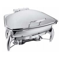 Fan-Shaped Stainless Steel Food Warmer Induction Chafing Dish Optional 5L or 8L Fan-shaped Food Container Manufactures