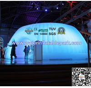 Indoor Exhibition Round Inflatable Lighting Tent  , Solar Power Tent Manufactures