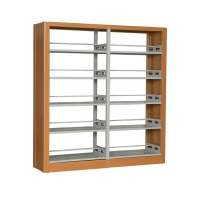 Movable 5 Tier Wooden 2220 mm Metal Office Bookshelf Manufactures
