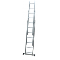 A Frame 4.1m 21 Step Foldable Extension Ladder Manufactures