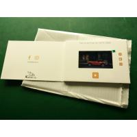 Cheap Hd Screen Lcd Video Booklet With Smart Button , Matte Lamination Color Cover for sale