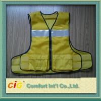 Polyester High Visibility Reflective Safety Vests Clohting With EN20471 CE Standard Manufactures