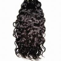 100% Brazilian Virgin Hair Machine-made Weft, Available in Various Colors Manufactures