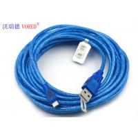 Blue Transparent Micro USB Data Cable Micro 5 Pin USB 156g Net Weight Manufactures