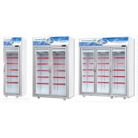 -18~22℃ Temperature Upright Glass Door Display Freezer For Seafood 1700L Manufactures