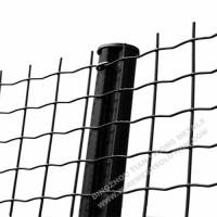 Electro Galvanised Wire Mesh Panels Green Powder Coating With Barb Top Manufactures