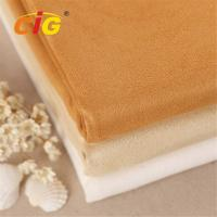 Abrasion - Resistant Upholstery 100% Polyester Suede Fabric for Car Seat / Shoes Manufactures