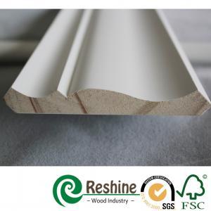 China Primed finger joint wood pine flooring baseboard door casing ceiling crown moulding on sale