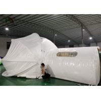 White Inflatable Tent For Hotel / PVC Tarpaulin Steel Frame Tent With Oxford Curtain Manufactures