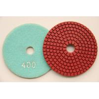 """China 4"""" Diamond flexible polishing pads red disc 400 grit by manufacturer on sale"""