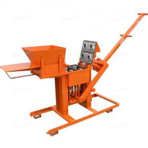 China Manual Compressed Earth Block Press Brick Making Machine Single Press 700 Bricks Daily on sale